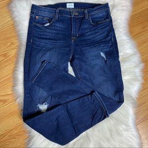 Hudson Krista Super Skinny Crop Distressed Jeans